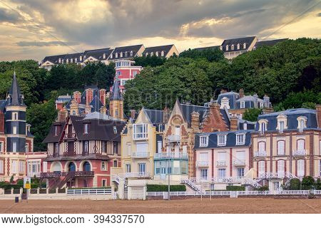 Trouville, France. Trouville Is A Village Of Fishermen And A Popular Tourist Attraction In Normandy