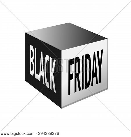 Black Friday Package Box With Printed Text