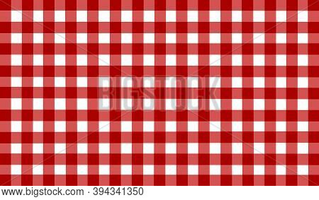 Red White Checkered Background. Space For Graphic Design And Creative Ideas. Checkered Texture. Clas
