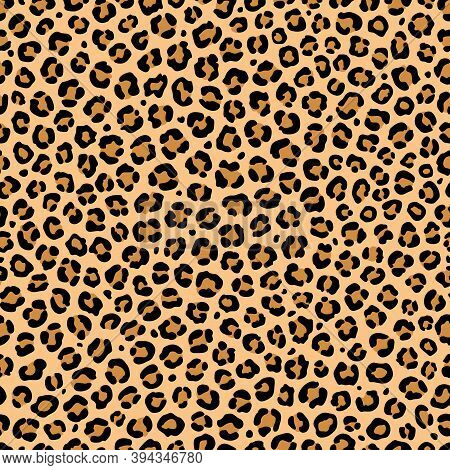 Leopard Print. Vector Seamless Texture. Spotted Animal Pattern. For Fabric, Wrapping Paper, Scrapboo