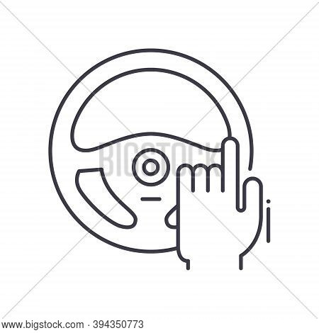 Autopilot Icon, Linear Isolated Illustration, Thin Line Vector, Web Design Sign, Outline Concept Sym