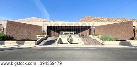 The Exterior Of The Palm Springs Art Museum On Museum Drive. Palm Springs, California. November 10th