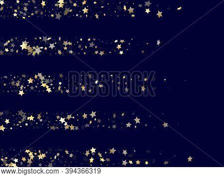 Gold Gradient Star Dust Sparkle Vector Background. Twinkle Gold Star Sparkles Dust Elements On Dark