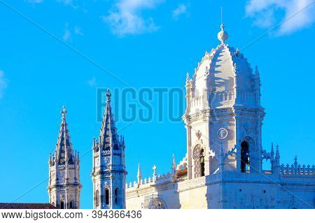Jeronimos In Lisbon  , Monastery Dome In  Gothic Manueline Style