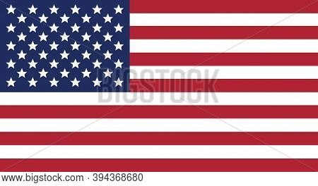 Usa National Flag. Vector Icon. True Colors. National Symbol