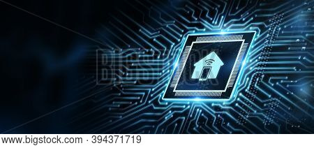 Business, Technology, Internet And Network Concept. Smart Home Automation Control System. Innovation