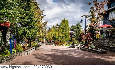 The Village Stroll Winding Through The Village Of Whistler, British Columbia, Canada