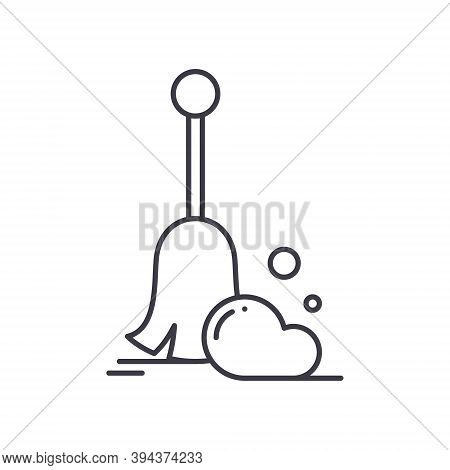 Sweep Icon, Linear Isolated Illustration, Thin Line Vector, Web Design Sign, Outline Concept Symbol