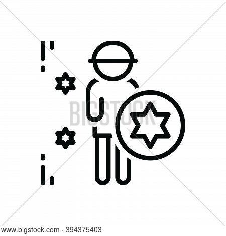 Black Line Icon For Pride Dignity Honor Pleasure Self-confidence Self-respect Self-pride Vanity Vain