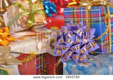 Gift Boxes In A Heap