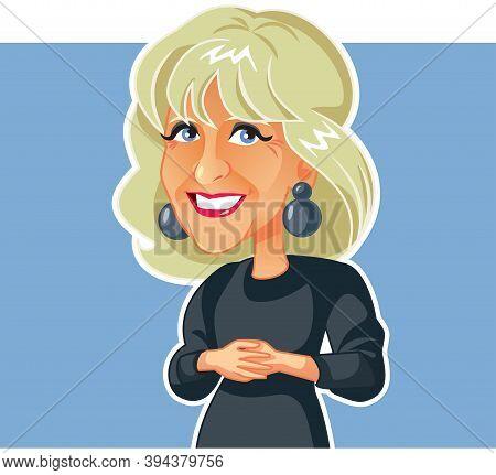 Ny, Usa, November 12, Jill Biden Vector Caricature