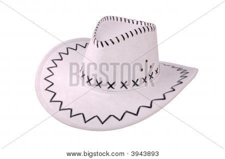 White Cowboy Hat Isolated On White