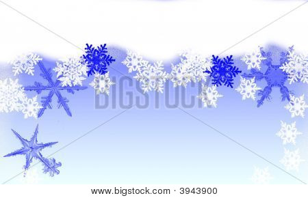 Christmas Blue Snowflakes