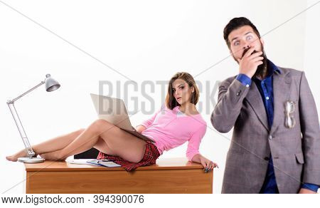 Resist Temptation. Office Manager Or Secretary. Sexy Personal Secretary. Full Of Desire. Sexy Lady W