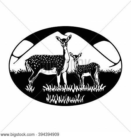 Roe Deer, Deer, Fallow Deer - Wildlife, Wildlife Stencils - Forest Silhouettes For Cricut, Wildlife