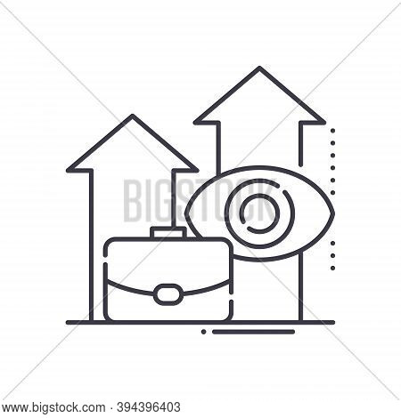 Long Term Investment Icon, Linear Isolated Illustration, Thin Line Vector, Web Design Sign, Outline