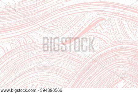 Grunge Texture. Distress Pink Rough Trace. Fascinating Background. Noise Dirty Grunge Texture. Neat