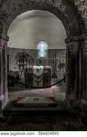 Edinburgh, Great Britain - September 10, 2014: This Is The Altar At Chapel Of St Margaret At Edinbur
