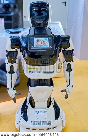 Robot Amur (amur Region) At The Exhibition Days Of The Far East-moscow, Russia, 12 13 2019
