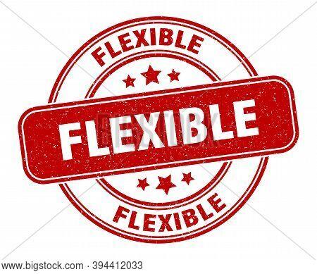 Flexible Stamp. Flexible Label. Round Grunge Sign