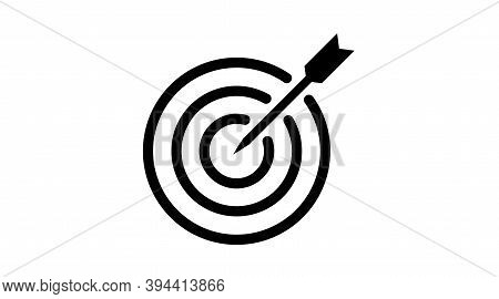 Target Icon Goal Focus, Objectives. Vector Illustration