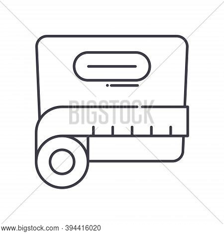 Bmi Icon, Linear Isolated Illustration, Thin Line Vector, Web Design Sign, Outline Concept Symbol Wi
