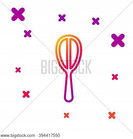 Color Line Kitchen Whisk Icon Isolated On White Background. Cooking Utensil, Egg Beater. Cutlery Sig