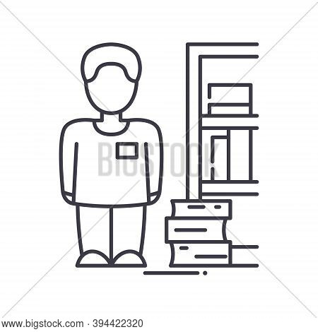 Bibliophile Icon, Linear Isolated Illustration, Thin Line Vector, Web Design Sign, Outline Concept S