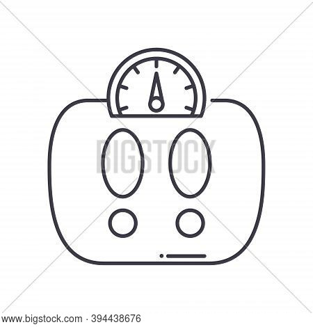Bmi Research Icon, Linear Isolated Illustration, Thin Line Vector, Web Design Sign, Outline Concept