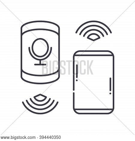 Bluetooth Icon, Linear Isolated Illustration, Thin Line Vector, Web Design Sign, Outline Concept Sym