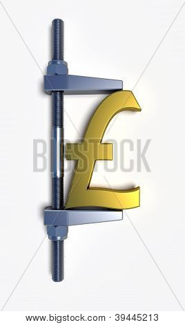 Pound Sterling Golden Sign