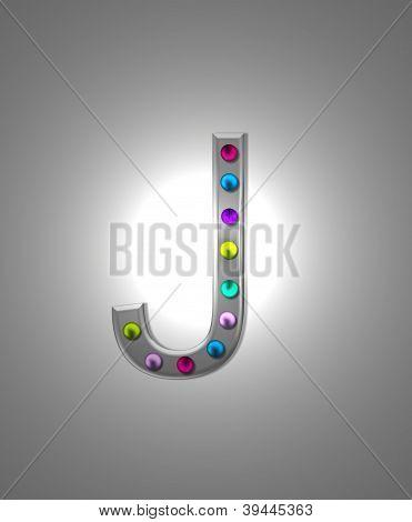 Alphabet Metal Marquee Jj