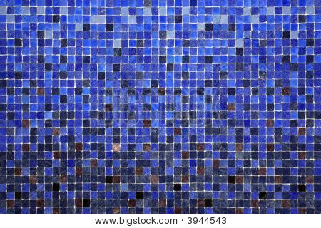 Background of little colorful ceramic square tiles poster
