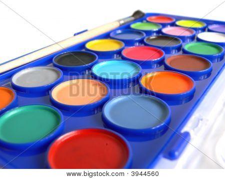 Paints Closeup