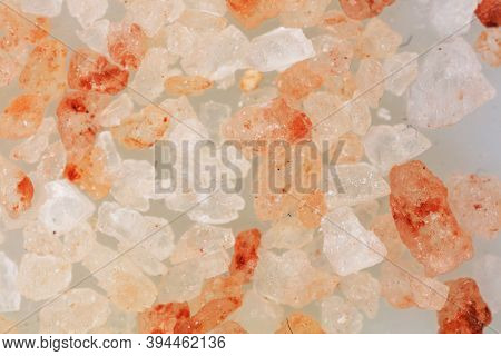 Studio Macrophotography Of Salt Crystals Close Up Colorful View