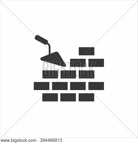 Vector Icons Brickwork And Building Trowel Modern Flat Style