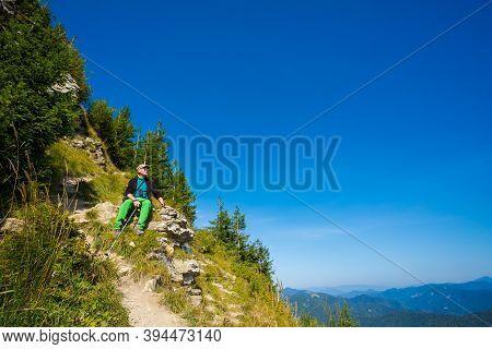 Senior Trekking On Velka Fatra