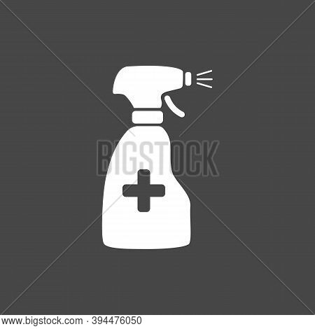 Anti-bacterial Alcohol Agent, Sanitizer, Bottle Spray Flat Style Icon