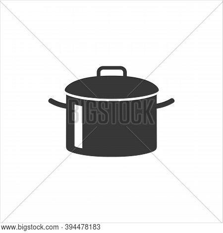 Cooking Pot Or Stockpot Stock Pot Flat Vector Icon For Cooking