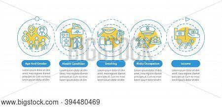 Insurance Cost Factors Vector Infographic Template. Risky Occupation Insurance Presentation Design E
