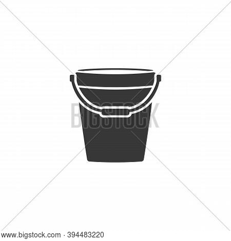 Pail Icon Logo Template Vector Modern Flat Style