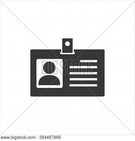 Id Card Vector Icon, Identification Card Icon, Personal Identification Card