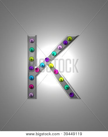 Alphabet Metal Marquee Kk