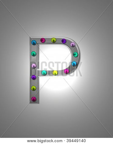 Alphabet Metal Marquee Pp