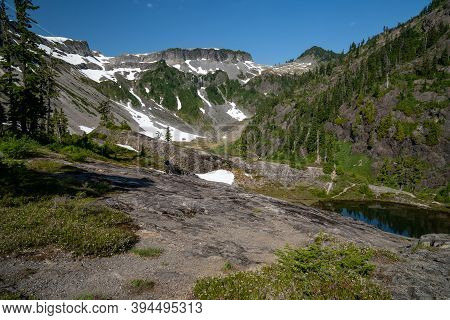 Heather Meadows Area Of Mt Baker Wilderness In Washington State Usa