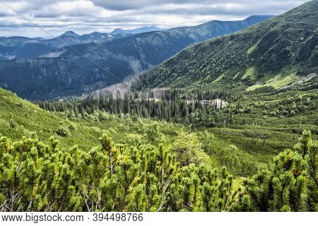 Western Tatras, Slovak Republic. Hiking Theme. Seasonal Natural Scene.
