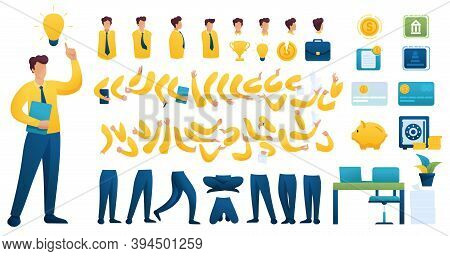 Constructor For Creating A Businessman N 2. Create Your Own Businessman Character With A Set Of Hand