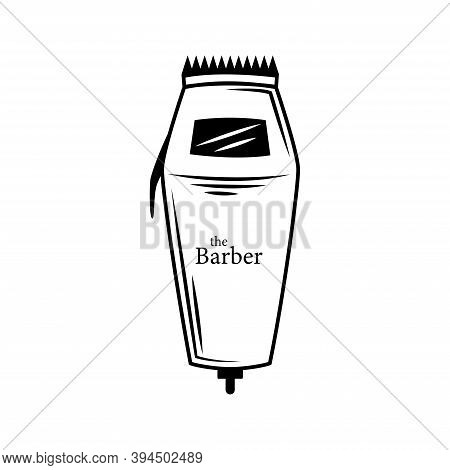 Cut-out Silhouette Of A Hair Clipper. Electric Hair Clipper, Cut Out Icon For Plotter Or Laser Cutti