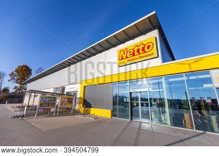 Passau / Germany - November 8, 2020: Branch Logo Of Netto. Netto Marken-discount Is A German Discoun