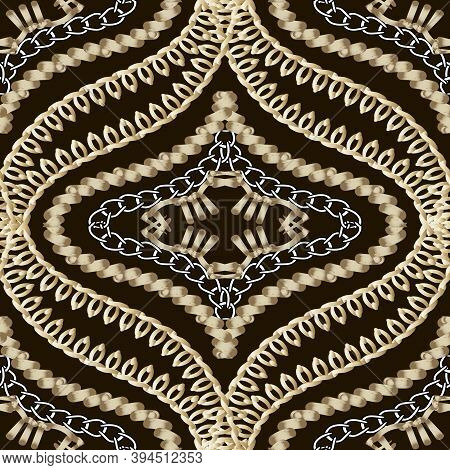 Textured Vector Stitch Seamless Pattern. Grunge Embroidery Style Ornamental Background. Decorative G